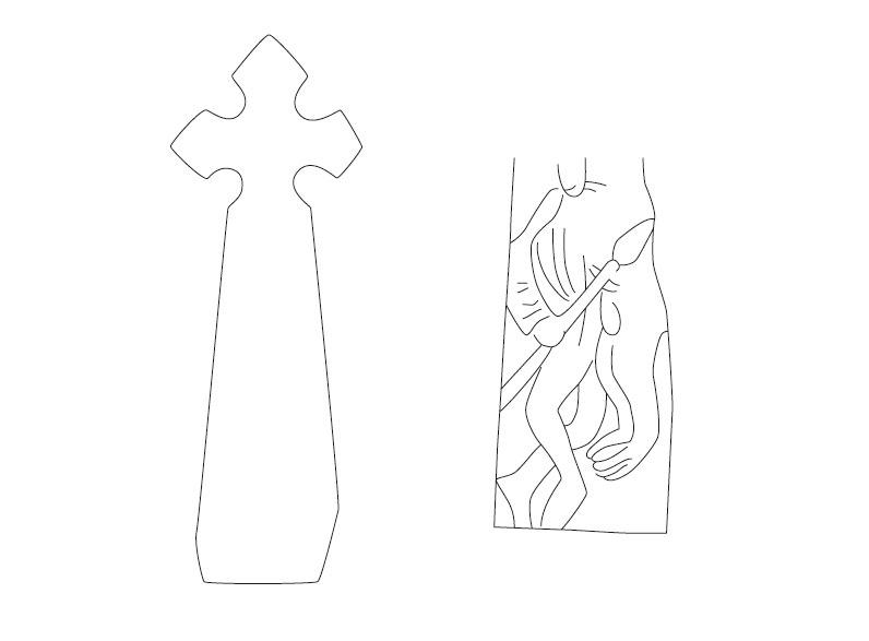 Zeichnung: Linien auf dem Ihlefelder Kreuz