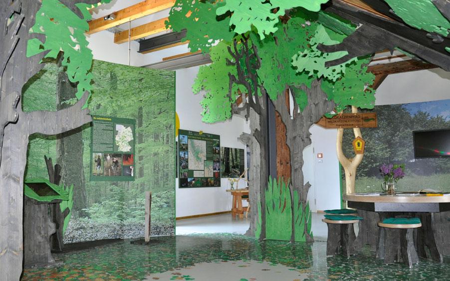 Foto: Ausstellung in der Wildkatzenscheune Hütscheroda