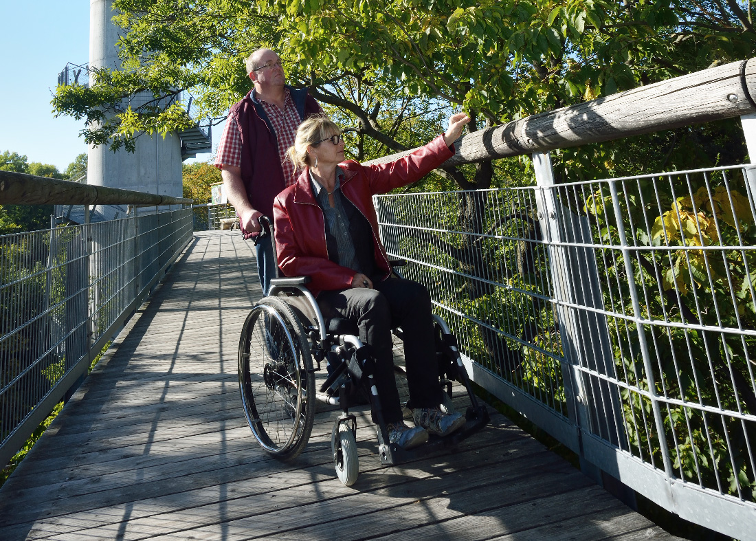 Image: Person in a the wheelchair on the Canopy Walk