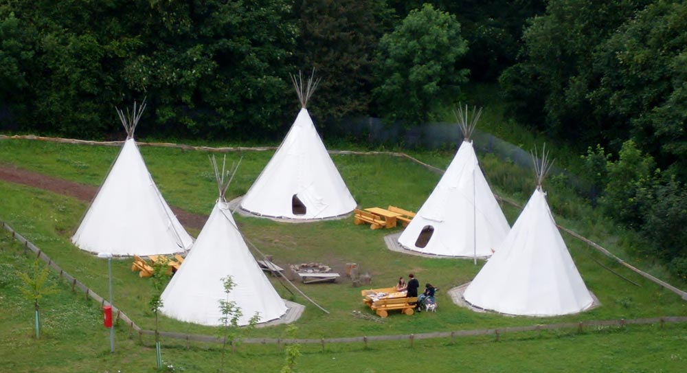 Image: The teepee village in the Urwald-Life-Camp