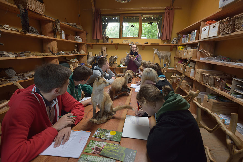 Image: Pupils in the Environmental Education Centre