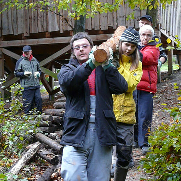 Foto: Ehrenamtliche im Nationalpark Hainich