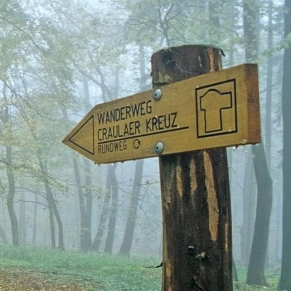 Foto: Wanderweg Crauler Kreuz im Nationalpark Hainich
