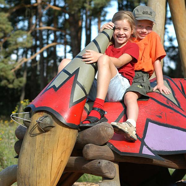 """Foto: Abenteuerspielplatz """"Wildkatzenkinderwald"""" im Nationalpark Hainich"""